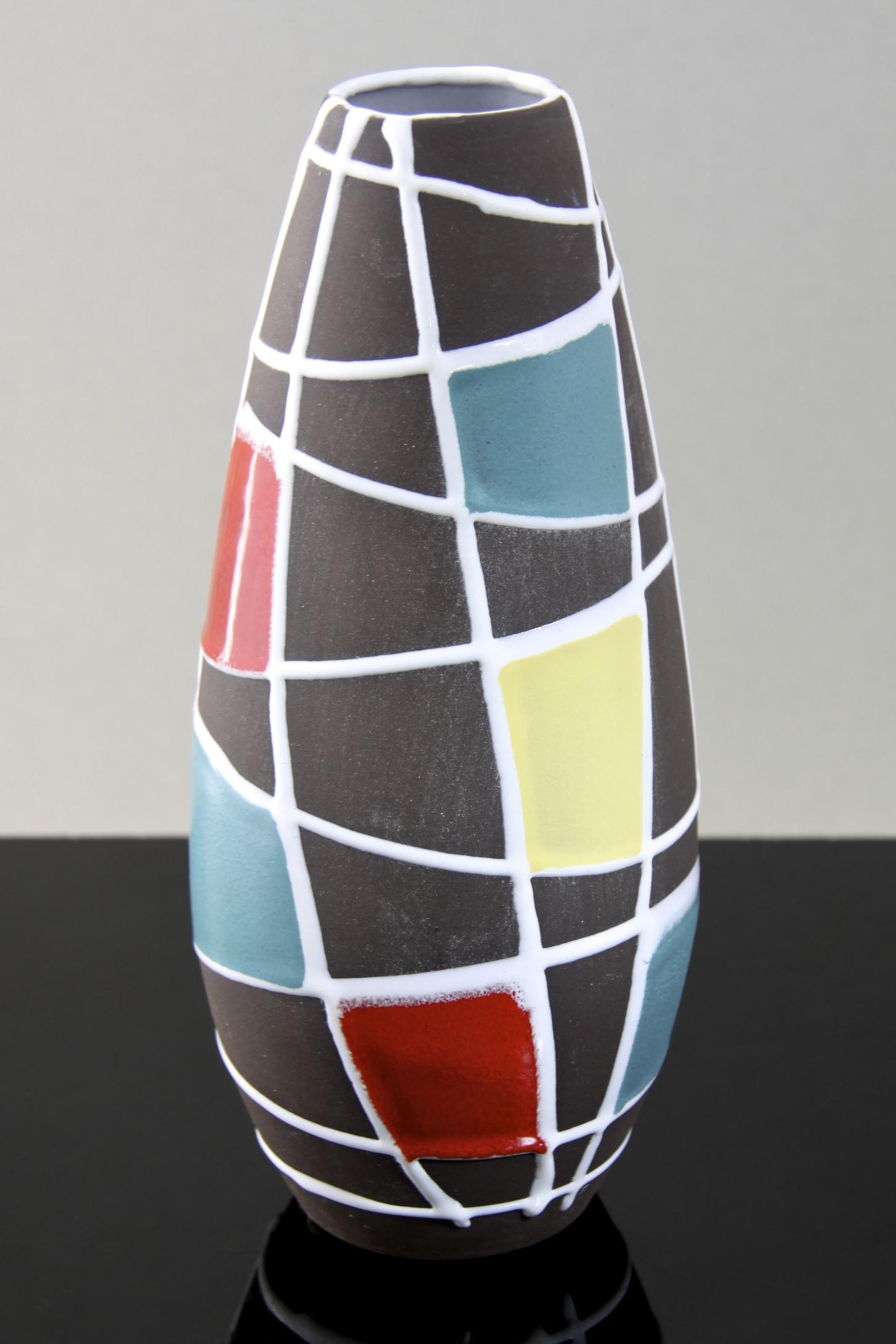 schlossberg keramik kuba vase designed by liesel spornhauer west germany 1958 afterglow retro. Black Bedroom Furniture Sets. Home Design Ideas