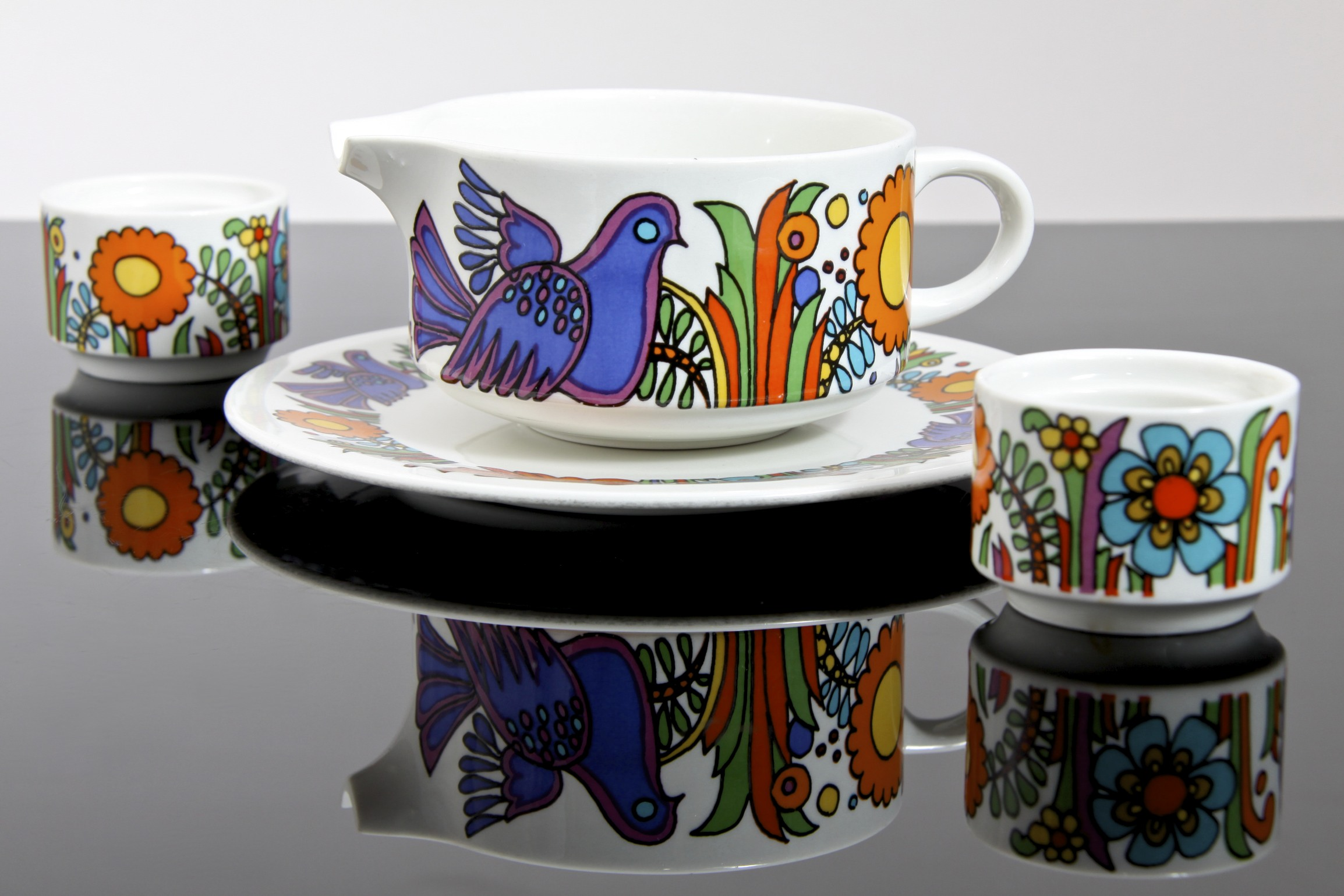 villeroy boch acapulco tableware transfer printed vitro porcelain luxembourg circa 1967. Black Bedroom Furniture Sets. Home Design Ideas