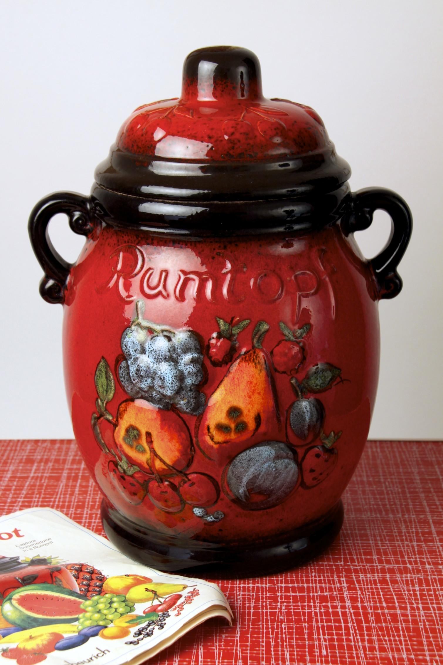 Scheurich Keramik Rumtopf Rum Pot Preserving Jar West