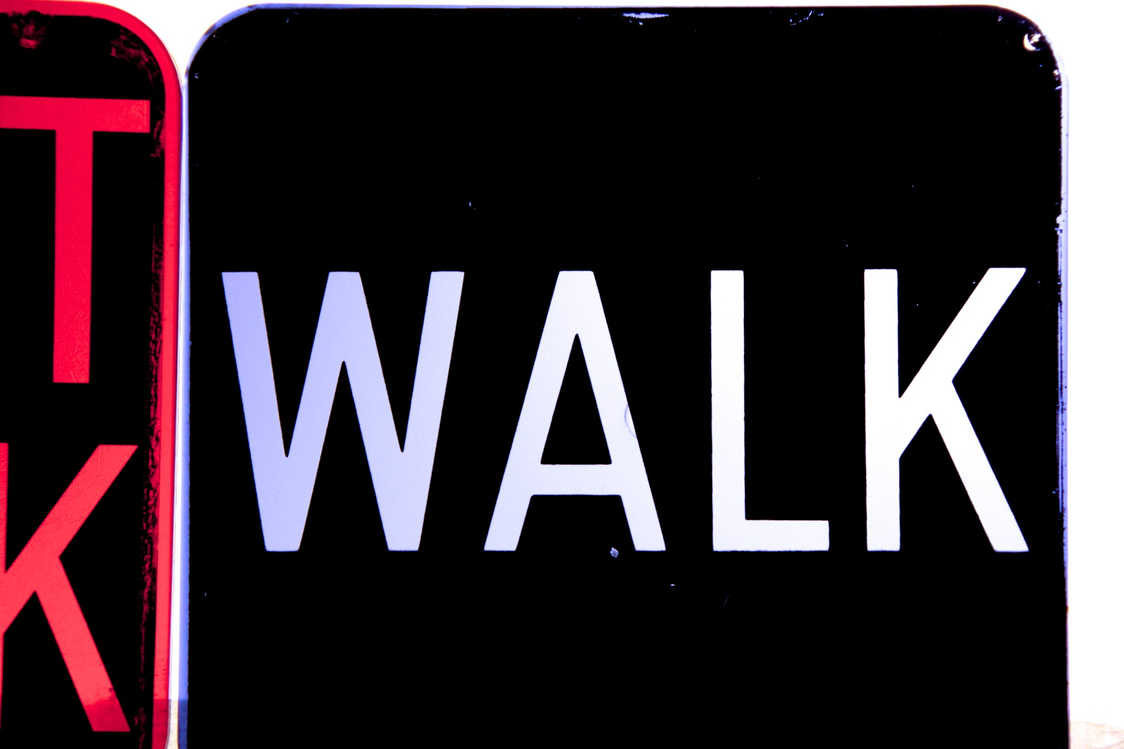 Vintage 'walk  Dont Walk' New York Crosswalk Sign Lenses. Acrylic Wall Murals. Mint Green Decals. Sporting Murals. Sun Signs. Math Number Signs. Cheap Banners. Never Signs. Hand Drawn Typography Lettering